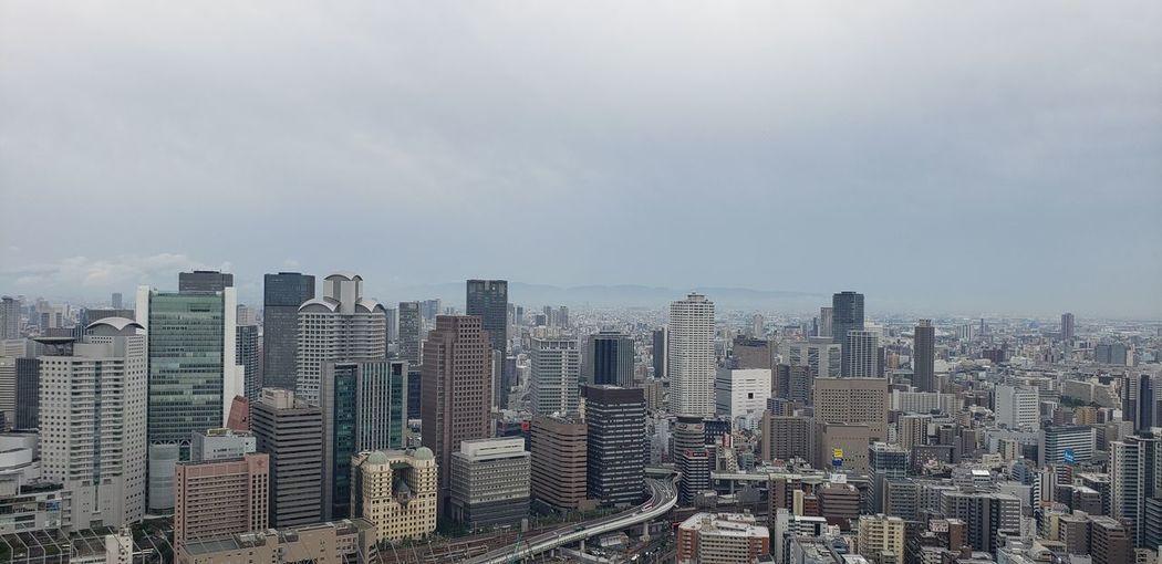 Osaka japan city overlook