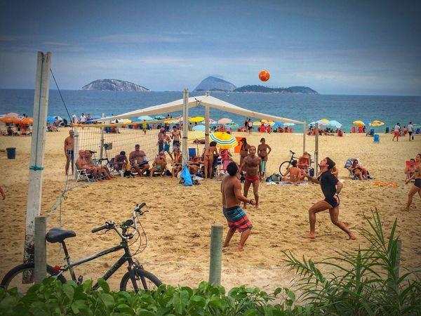 Voley + Fútbol = Rio De Janeiro Riodejaneiro Brasil Popckorn EyeEm The Moment - 2015 EyeEm Awards