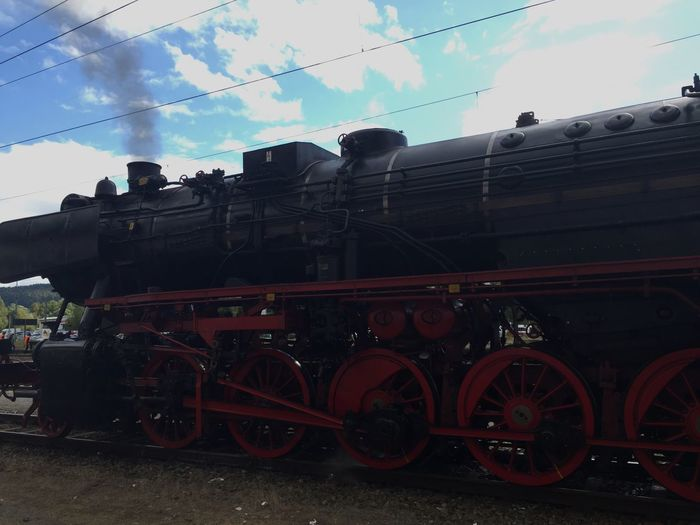 Transportation Mode Of Transport Steam Train Day Sky Outdoors Rail Transportation Low Angle View Public Transportation Old-fashioned No People Locomotive Military Historical Reenactment