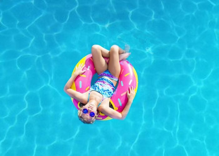 Pool Swimming Pool Water High Angle View Leisure Activity One Person Childhood Summer Floating Vacations Relaxation