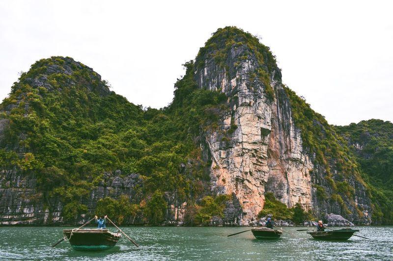 People Boating At Halong Bay