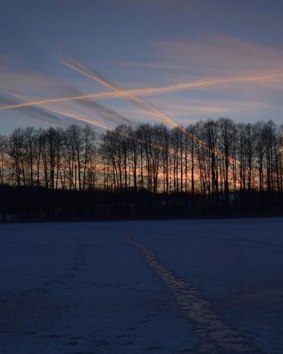 Sunset Nature Winter Evening Sky Road On Ice Wild Nature Colours Of Nature