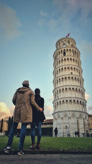 Travel Destinations History Architecture Rear View People Two People Politics Built Structure Adult Day Outdoors Adults Only Sky Politics And Government City Ancient Civilization The Architect - 2017 EyeEm Awards EyeEm Best Shots Travel Vacations Pisa Italy Italia Arhitecture Building Exterior
