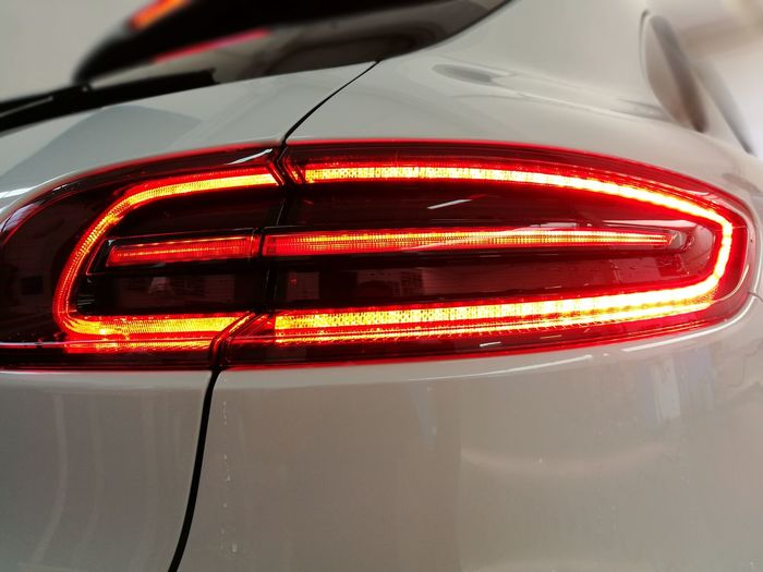 Car Transportation Mode Of Transport Land Vehicle Motor Vehicle Red No People Automobile Industry Racecar Indoors  Night Technology Auto Racing Close-up Porsche Macan S LED LIGHT STOP