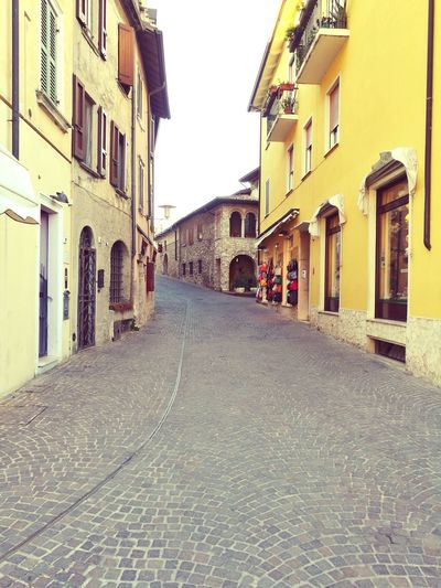 A street of Italy. Architecture Day Outdoors Sky No People Italy Old Oldtown The Way Forward Walking Old Buildings Charme First Eyeem Photo
