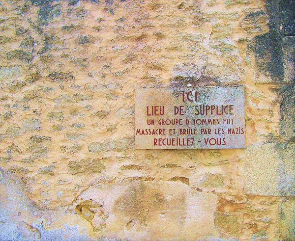 Day Martyred Village Nazis Crimes No People Oradour Sur Glane Outdoors Place Of Contemplation Text Wall - Building Feature War
