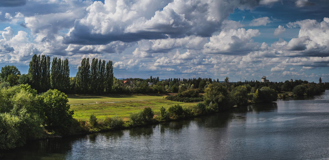 Scenic view of river against sky