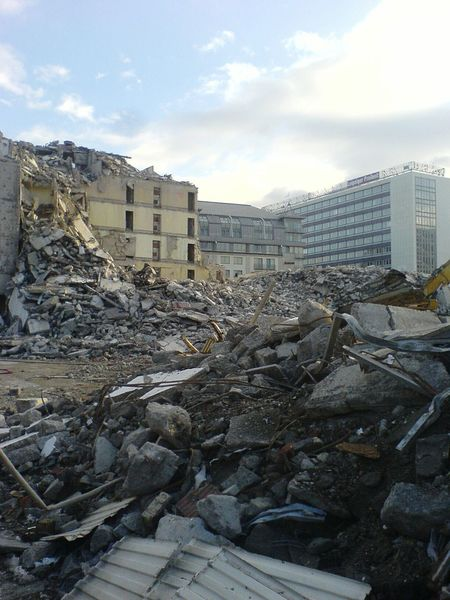 Building Site Demolition Demolition Zone Building Demolition Gebäudeabriss Baustelle Abbruch Höfe Am Brühl 2007