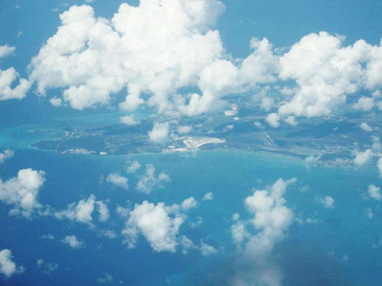 Eyeemphoto In Airplane Cloud - Sky Blue Sea Cloudy Tranquil Scene Beauty In Nature Scenics Perfect View Hidden Places Taking Photos Hello World Photography By Me Samsung Galaxy S7 Relaxing