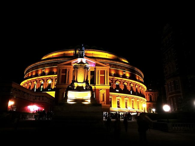 Night Arts Culture And Entertainment Illuminated Architecture Built Structure Low Angle View Concert Hall  No People Outdoors Building Exterior City Sky RoyalAlbertHall Proms