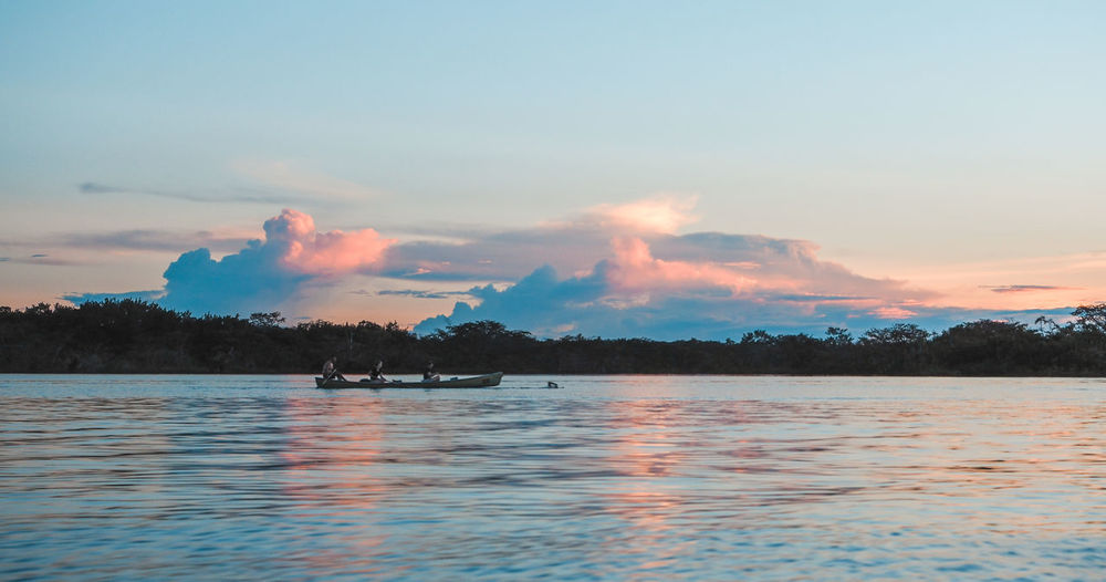 Sundown in the Amazon Amazonas Calm National Park Pink Sky Sunset_collection Tranquility Travel Beauty In Nature Ecuador Nature Non-urban Scene Rainforest Reflections Scenics - Nature Sky Sunset Tranquil Scene Tranquility Water