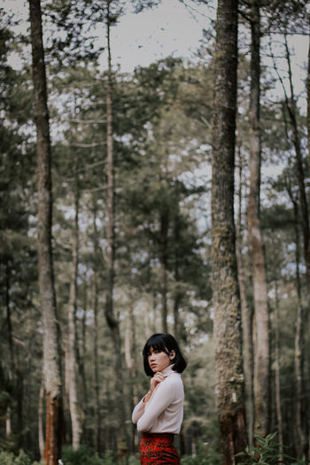 One Person Forest People Children Only Tree Child Pinaceae Day Portrait Adult Outdoors Smiling Nature Young Adult Fresh On Market 2017