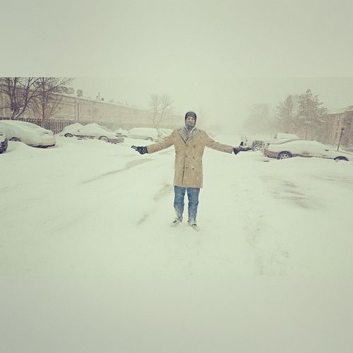 Who the hell cares when it's snowing ? Winters2k15 Chicago Street