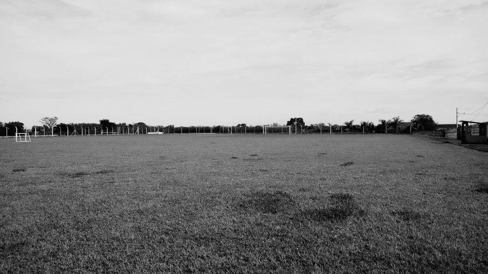 Blackandwhite Footballfield Afternoon Along The Way Urban