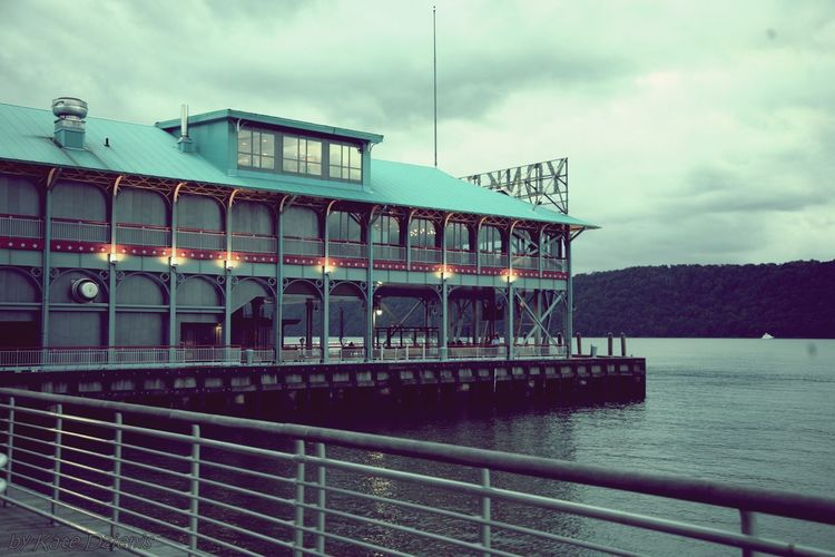 A cloudy day. Yonkers Recreation Pier.