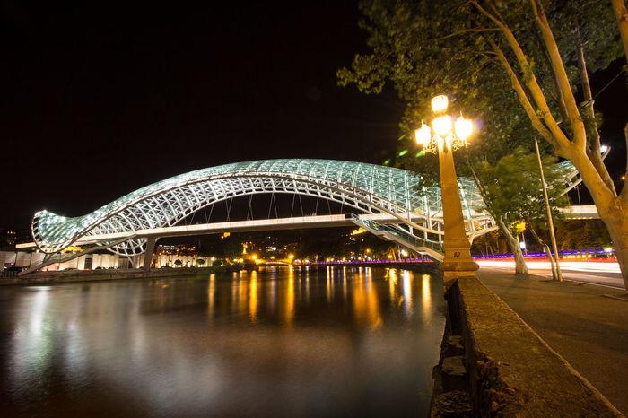 The Bridge of Peace #bridge #Georgia #Mtkvari #river #Saqartvelo #Tbilisi