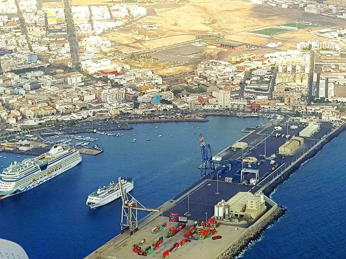 Harbor Harbour Harbour View Harbour & Ships Harbour From Above Harbour Puerto Del Rosario Puerto Del Rosario View From Airplane View From Above Puerto Del Rosario Spain Cruise Ship Cruise Cruiser Cruisers Harbor