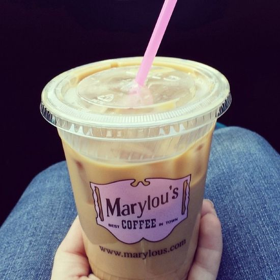 Good way to start my Saturday Marylous Icecoffee Tastesgood Pinkandblack