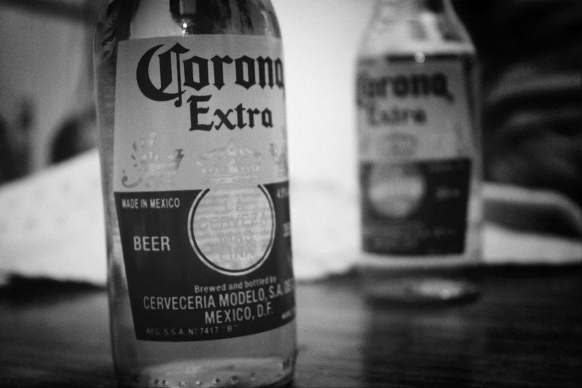 Corona Black & White Cerveza Photography