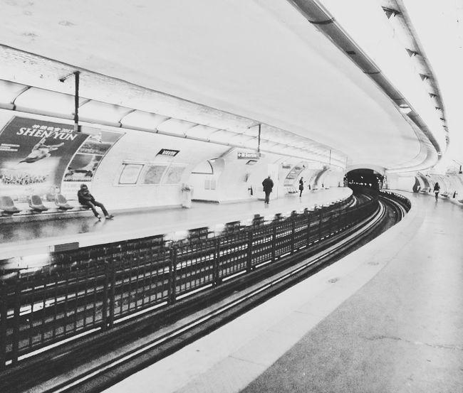 Paris Metro Vavin Paris Black And White B&w