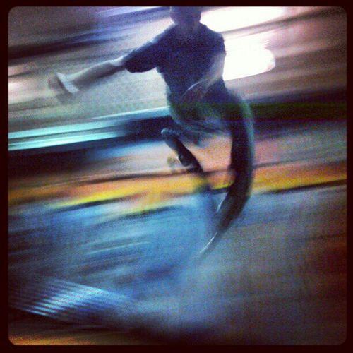 360flip Skateboarding Motion Blur