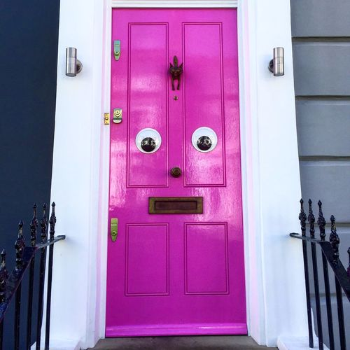 London United Kingdom Colors Urbanphotography Door Pink Faces In Objects Face