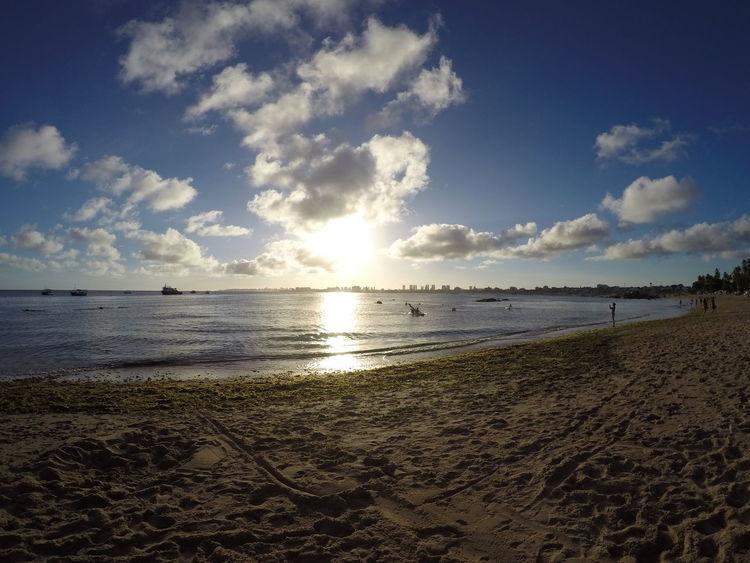 praia de Itapuã Bahia Brazil Beach Sea Sand Water Vacations Nature Sky Sun Horizon Over Water Summer Cloud - Sky Tranquility Beauty In Nature Travel Destinations Sunlight Scenics Outdoors Travel Landscape Sunset