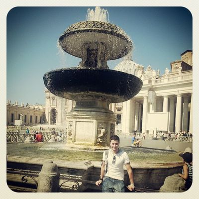 In Vatican, St Peter's Square Rome VaticanCity Vatican Pope Italy Fountain