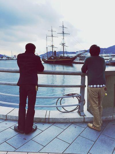ダチ 帆船 曇り 旅行