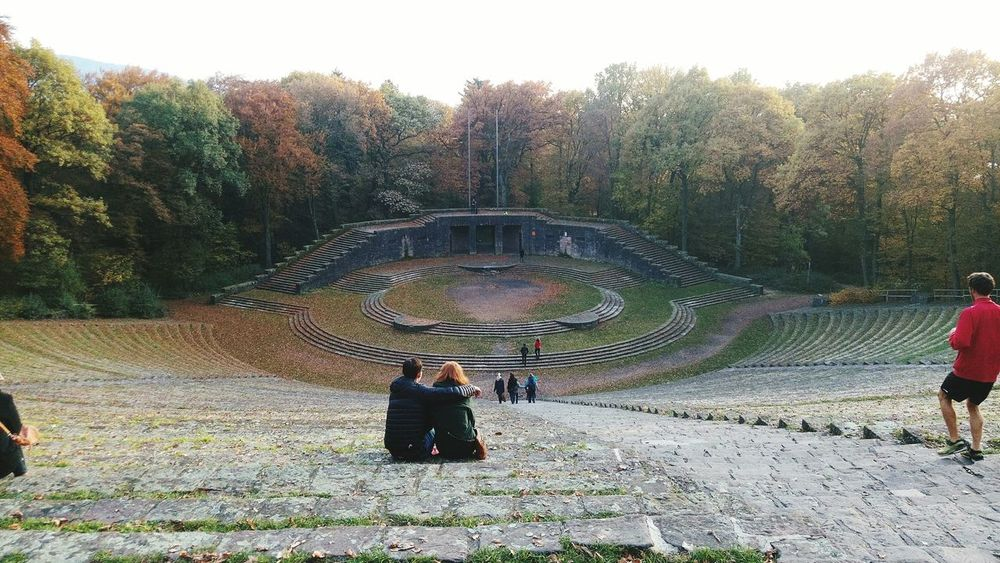 Autumn Autumn Colours Castle Beauty In Nature Autumn🍁🍁🍁 Heidelberg Germany Heidelberg History Built Structure Landscape Architecture Mountain Amphitheater Amphitheatre