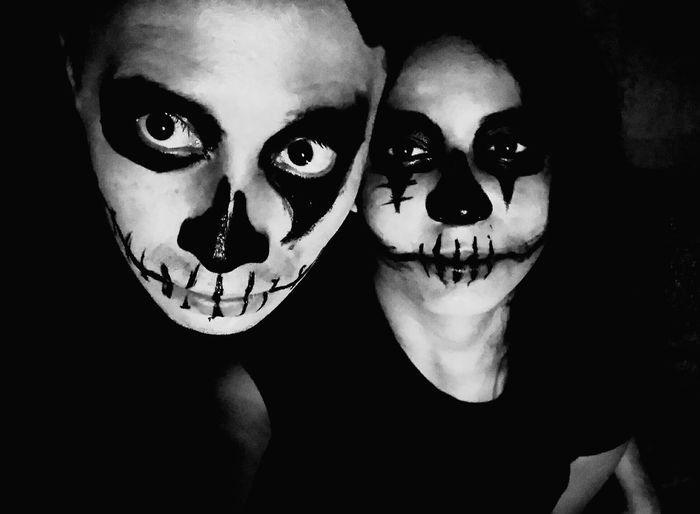 Creepy Skull Face Dark Blanckandwhite Halloween Halloween Horrors Happy Halloween Horror Photography Horrorart Halloween Horror Nights