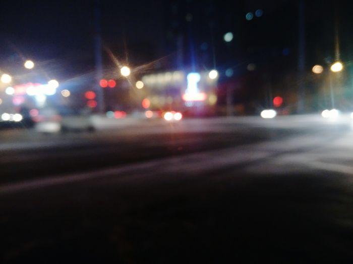 Night Illuminated Car Street Transportation City City Street Outdoors No People Street Light