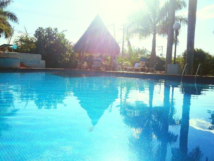 Summer Views Poolside Pool Cuernavaca Mexico Sun Verano