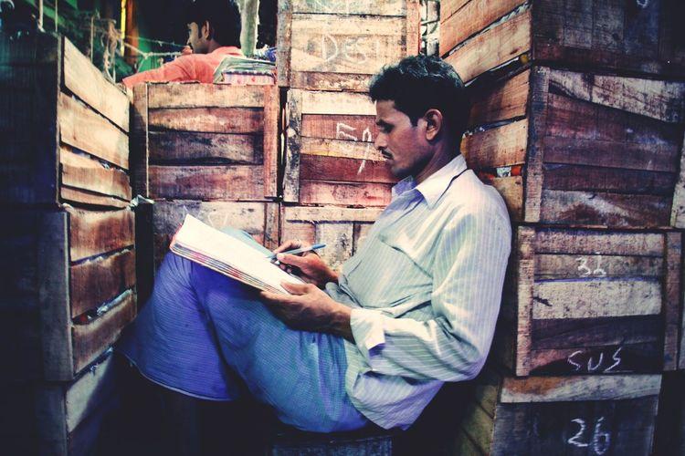India Incredible India Business Reading Men Working EyeEm Best Shots Vscocam Kolkata VSCO Journey Colours Travel Photography Documentary Streetphotography Eye4photography  Street ASIA The Week Of Eyeem Urban Illuminated Check This Out Market City