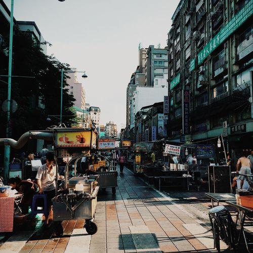 Ready to opening the night market. Shuanglian Night Market Taipei Taiwan