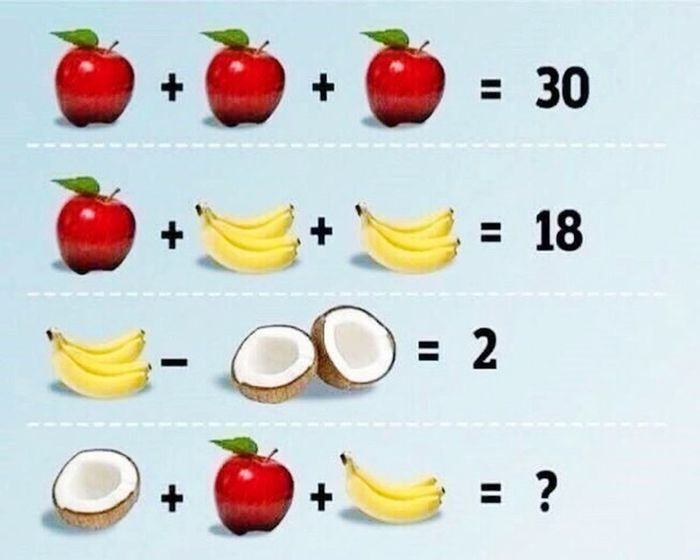 Quiz Riddle Apple Banana Coconut Japan