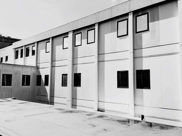 Architecture Building Exterior Built Structure Day Windows Windows_aroundtheworld Black And White Photography Blackandwhite Black&white Black & White Blackandwhite Photography Lines And Angles This Is Not A Urinal Urban Geometry Urban Landscape A Prison ? Prison
