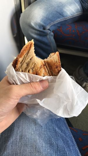 EyeEm Selects Sandwitch Toasted Bread Holding Food Eating Bread Close-up Human Hand Food And Drink Ready-to-eat