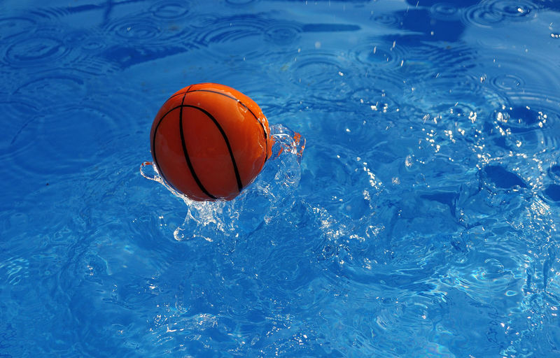 Ball Blue Day No People Outdoors Sport Swimming Pool Water
