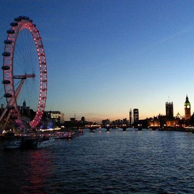 Perfect day :) Bigben Theriverthames LondonEye Goldenjubileebridge westminster london home