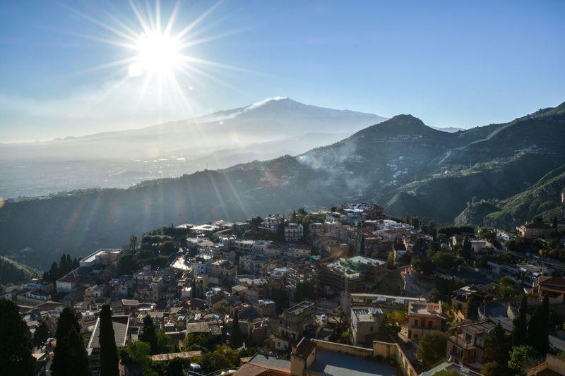 Volcano Etna Taormina And Etna Sicily, Italy Enjoying The View