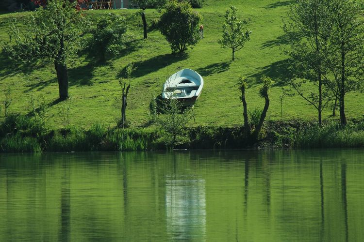 Boat Water Outdoors No People Beauty In Nature Green Color