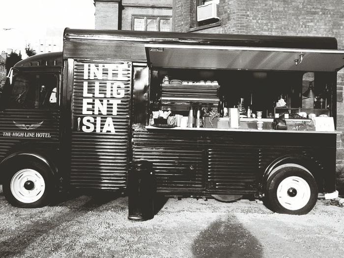 At the Intelligentsia Coffee truck outside the Highline Hotel in Chelsea , New York
