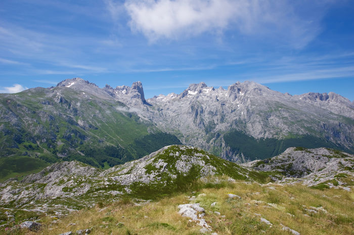 Asturias Beauty In Nature Cantabrian Mountains Cloud - Sky Clouds And Sky Day Idyllic Landscape Landscape_Collection Mountain Mountain Range Mountain View Mountains Nature No People Outdoors Picos De Europa Picu Urriellu Scenics Sky Snow SPAIN Tranquil Scene Tranquility