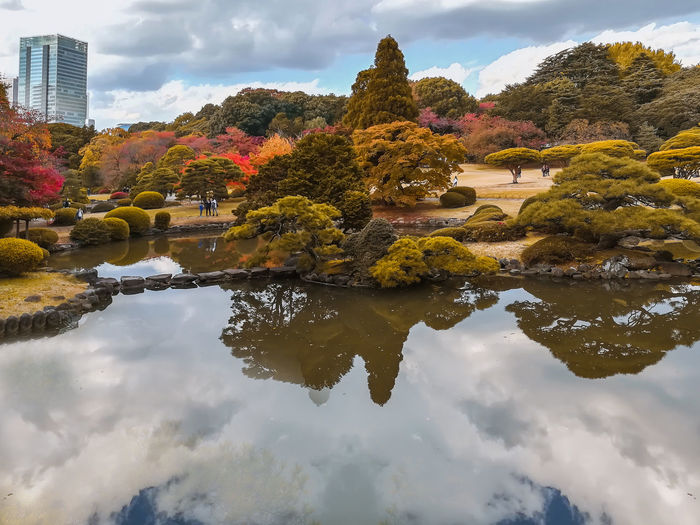 Japan Travel Autumn Beauty In Nature Change Cloud - Sky Clouds And Sky Day Lake Nature Outdoor Photography Outdoors Park PhonePhotography Plant Reflection Sky Travel Destinations Tree Water Waterfront
