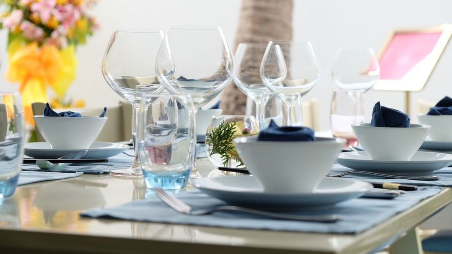 Banquet planning Banquet Hall Banquet Table Banquet Table Place Setting Indoors  Food And Drink Dining Table Wineglass Food Stories Drink Restaurant Drinking Glass Plate No People Fork Day Flower Close-up Freshness Modern Hospitality