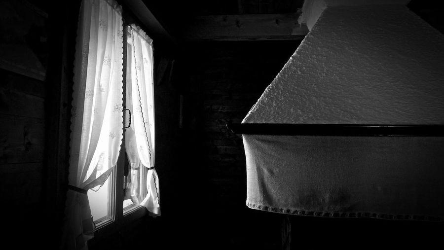 Close-up of lamp at home