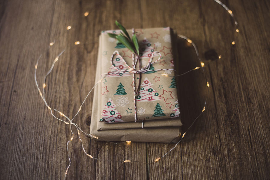 Wrapped gifts on wooden table Christmas Holiday Love Wrap Celebration Christmas Christmas Decoration Christmas Present Chritsmas Close-up Decoration Gift High Angle View Indoors  No People Paper Ribbon Ribbon - Sewing Item Still Life Table Tied Bow Tied Up Wood - Material Wrapped Wrapping Paper