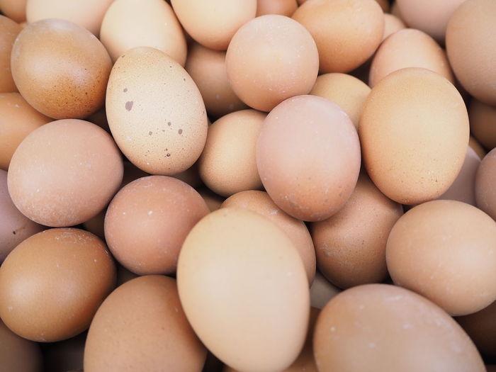 Full frame shot of eggs for sale in store