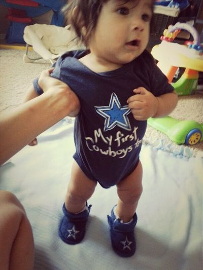 A Football Fan Is Born... Dallas Cowboys Knowmatter What